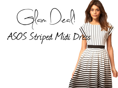 Glam Deal! ASOS Striped Midi Dress