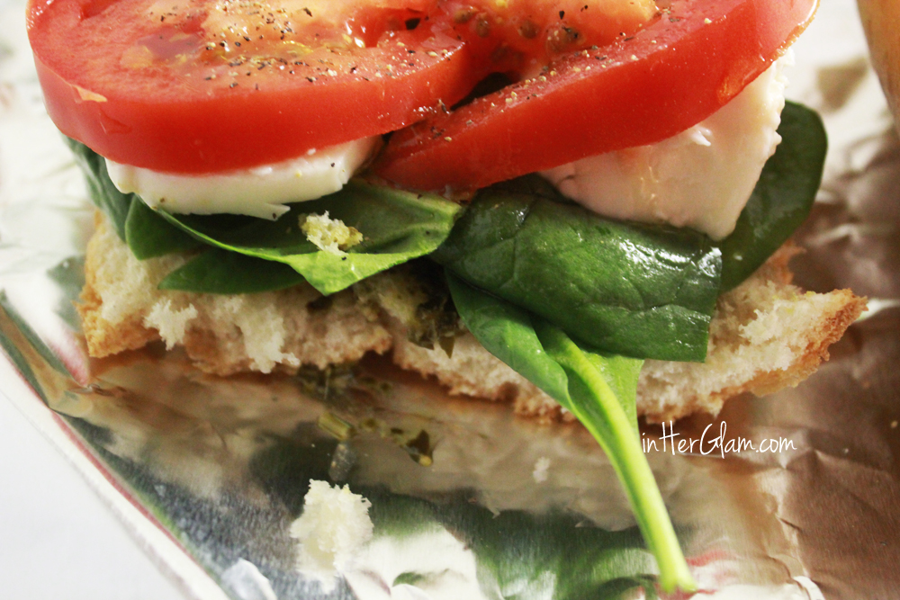 Balsamic Roasted Tomato Caprese Sandwich Recipe — Dishmaps