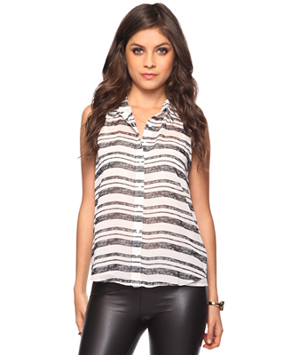 b077421864306 Glam Deal! Forever 21 striped sleeveless top - inHer Glam