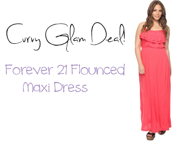 Curvy Glam Deal! Forever 21 Flounced Maxi Dress