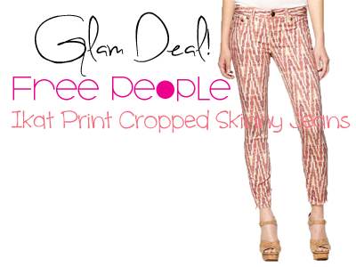 Glam Deal! Free People Ikat Print Cropped Skinny Jeans