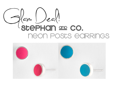 Glam Deal! Stephan & Co Neon Post Earrings