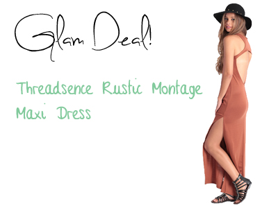 Glam Deal! Threadsence Rustic Montage Maxi Dress