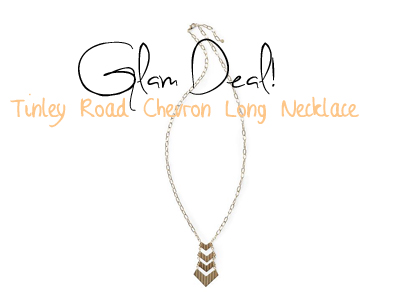 Glam Deal! Tinley Road Chevron Long Necklace