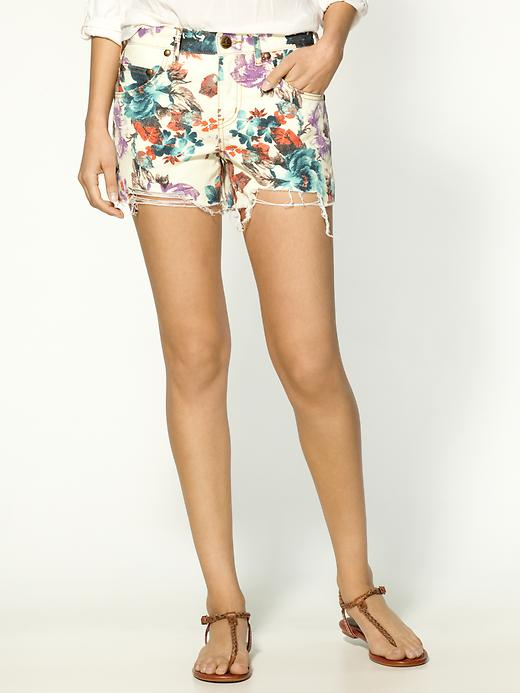 a4cb867d78 Glam Deal! Free People Denim Floral Cut Off Shorts - inHer Glam