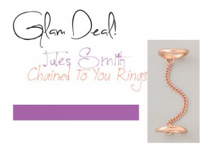 Glam Deal! Jules Smith Chained to You Rings