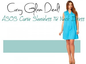Curvy Glam Deal! ASOS Curve Sleeveless Tie Neck Dress