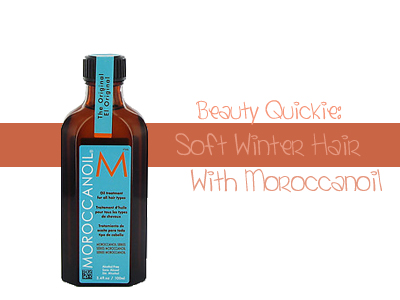 Beauty Quickie Soft Winter Hair with Moroccanoil