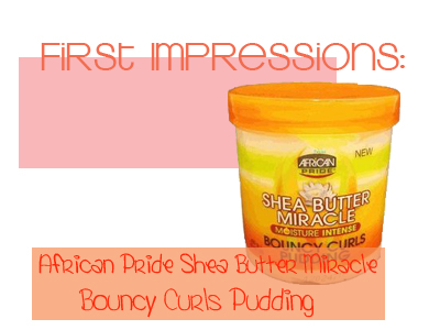 First Impressions African Pride Bouncy Curls Pudding