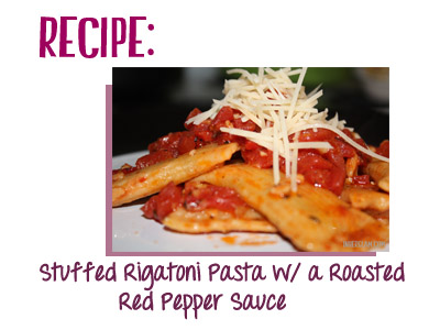 Pasta With Roasted Red Pepper Tomato Sauce Recipe — Dishmaps