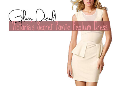 Glam Deal! Victoria's Secret Ponte Peplum Dress