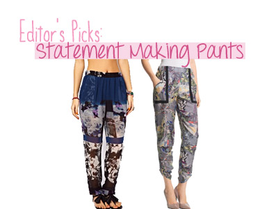 fashion spring summer 2013 trends prints pants