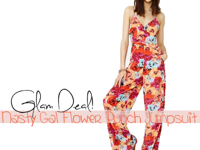 fashion flowers floral prints nasty gal summer spring 2013 jumpsuit