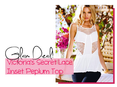 victoria's secret lace peplum fashion spring summer trends 2013