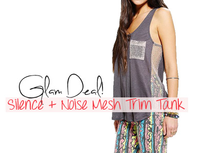 silence and noise mesh tank urban outfitters summer 2013