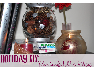 holiday diy candle holder vase christmas