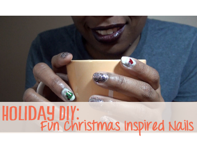christmas diy nails polish holiday