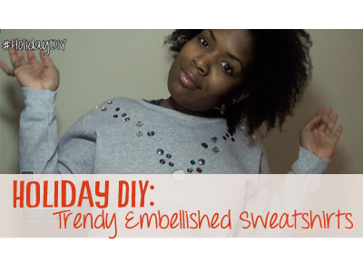 holiday, diy, how to, sweatshirt, trends
