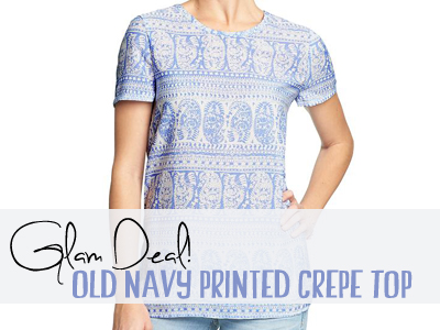old navy crepe printed top spring
