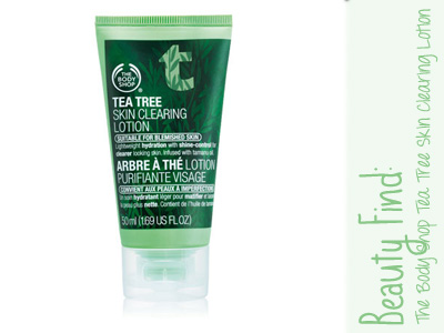 body shop tea tree clearing lotion