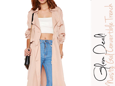 nasty gal convertible trench fall