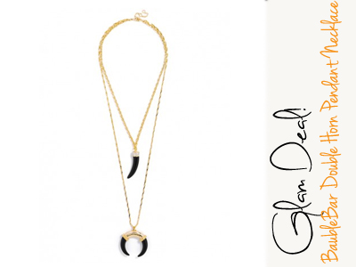 fashion horn pendant necklace baublebar jewelry