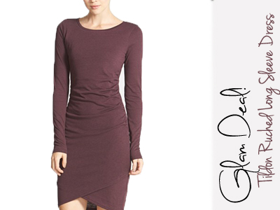 tildon nordstrom ruched dress holiday fashion