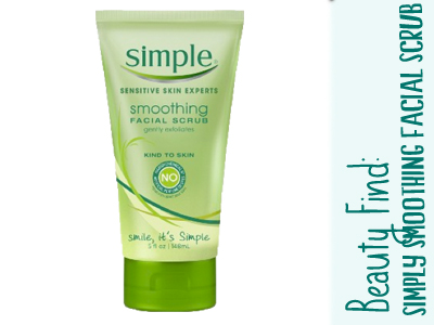 simple smoothing facial scrub beauty
