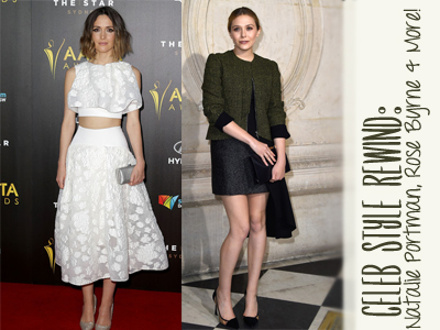 celebrity fashion natalie portman rose byrne