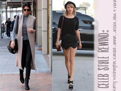 celebrity style taylor swift kendall jenner