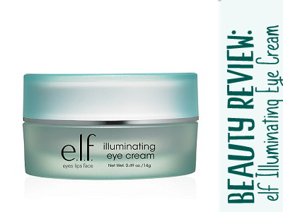 elf illuminating eye cream skincare