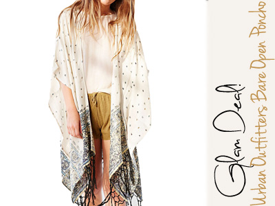 urban outfitters poncho spring fashion