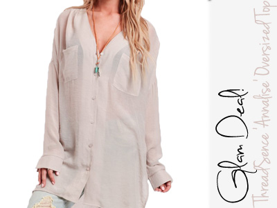 threadsence oversized annalise top spring fashion